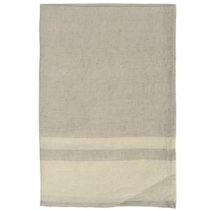 Chambray stripe tea towel