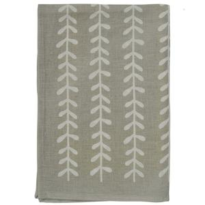Leaf print tea towel