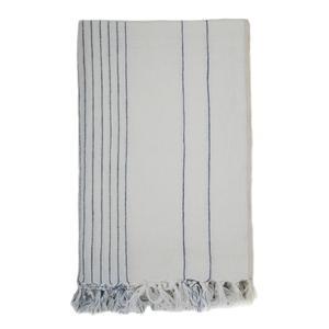 Vertical Stripe Linen Throw