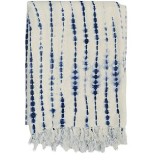 Rope shibori throw