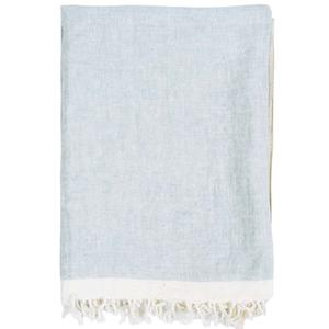 Chambray solid throw