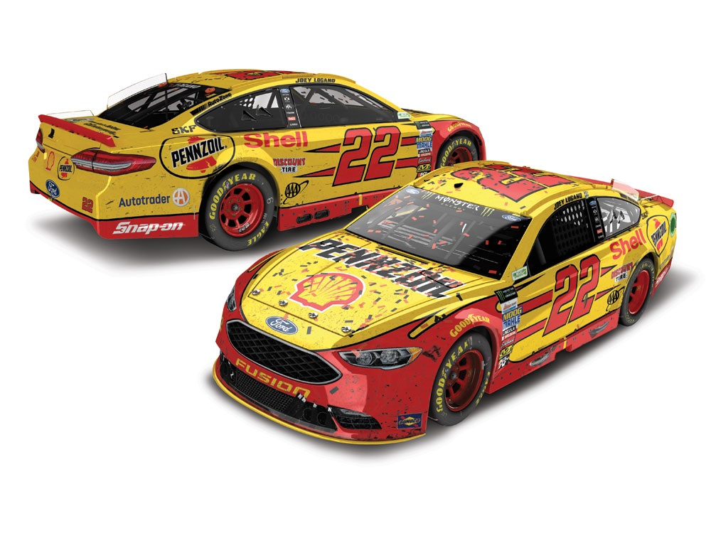 JOEY LOGANO 2017 SHELL/PENNZOIL RICHMOND RACED WIN 300TH START 1:24 AUTO DUAL ELITE
