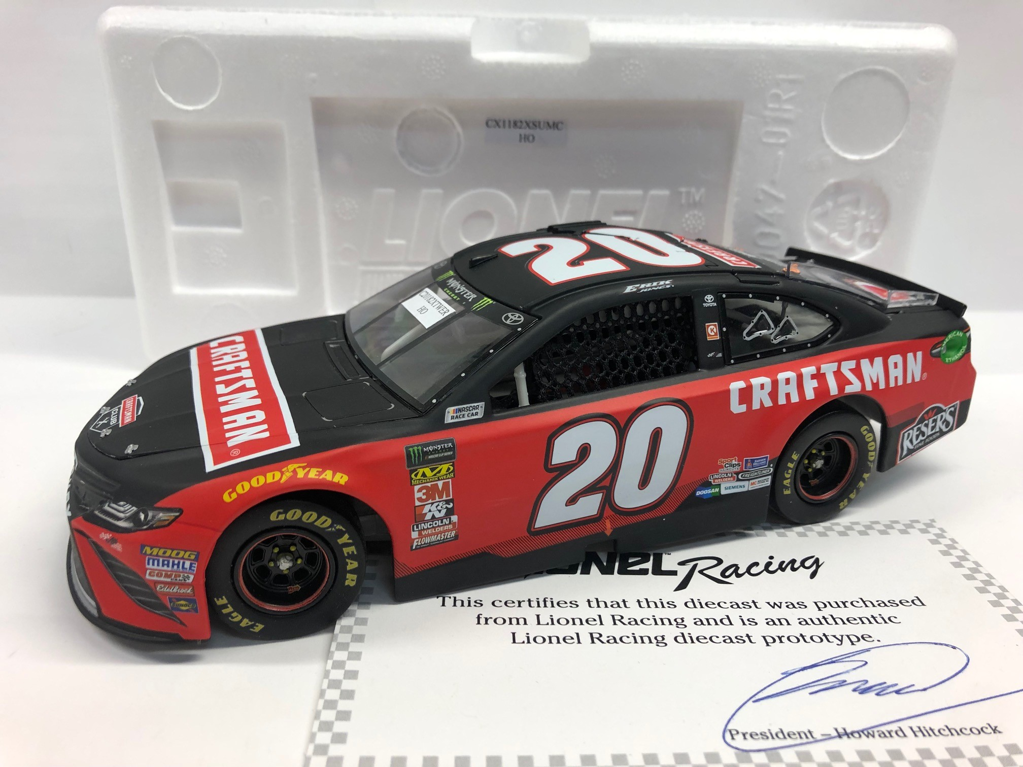 ERIK JONES 2018 CRAFTSMAN 1:24 ARC PROTOTYPE DIECAST - DNP