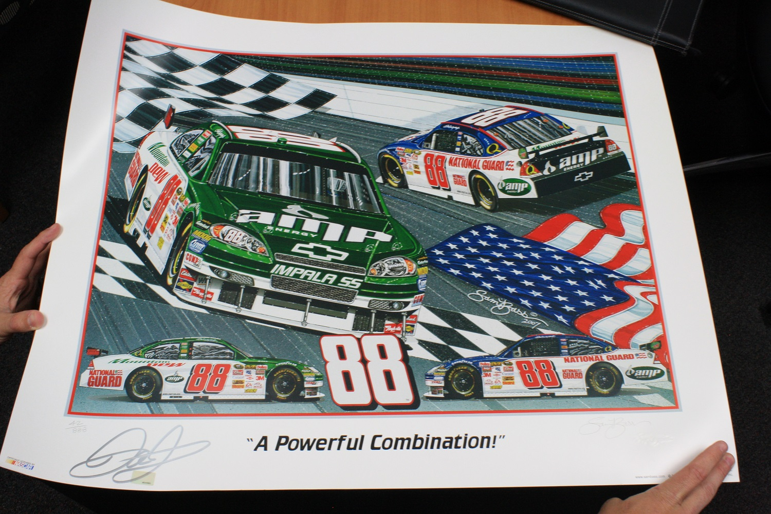 "SAM BASS "" A POWERFUL COMBINATION"" LIMITED EDITION AUTOGRAPHED PRINT #42 OF 888"