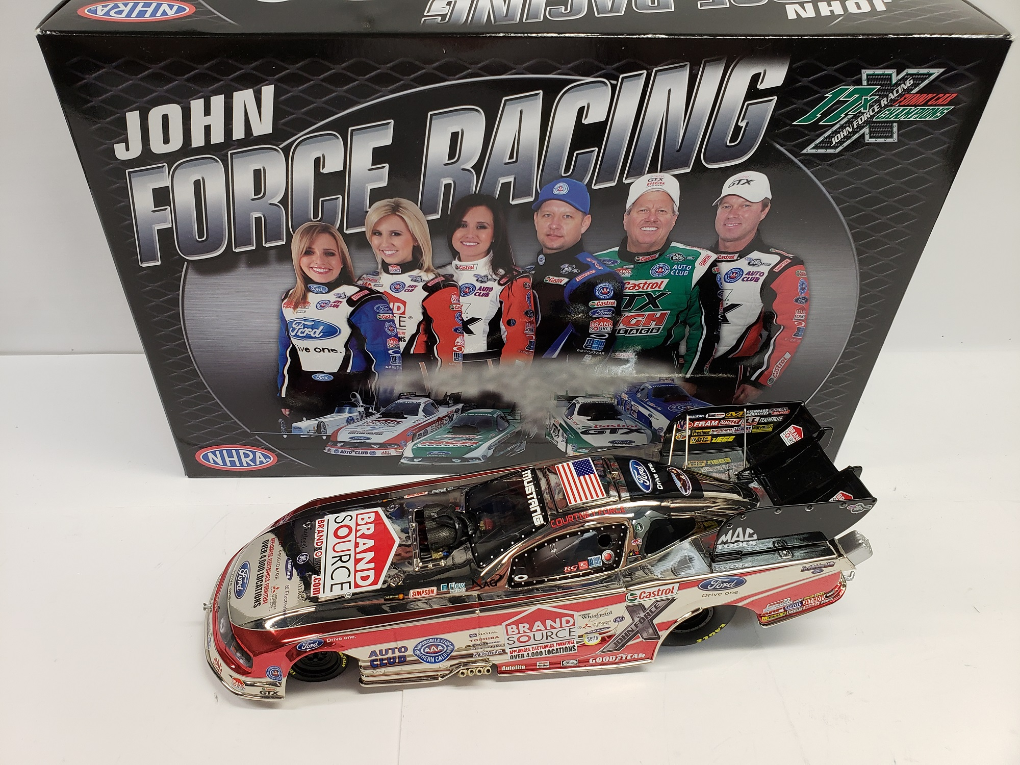 2011 Courtney Force Brandsource Funny Car Color Chrome   ARC