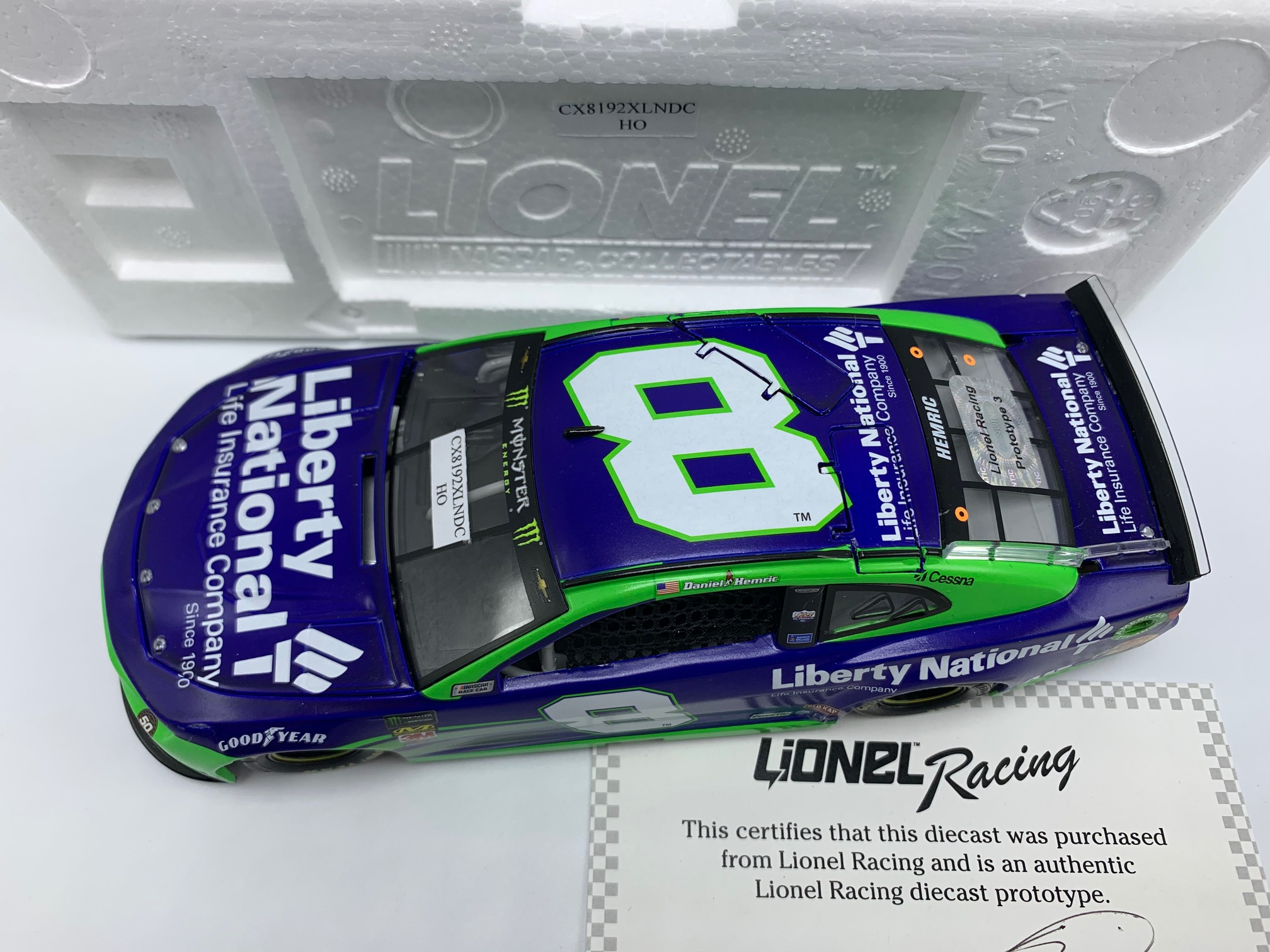 DANIEL HEMRIC 2019 LIBERTY NATIONAL 1:24 ARC DIECAST - DNP PROTO #3