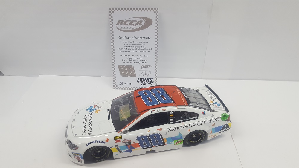 DALE EARNHARDT JR. 2017 NATIONWIDE CHILDREN'S 1:24 ELITE AUTOGRAPHED