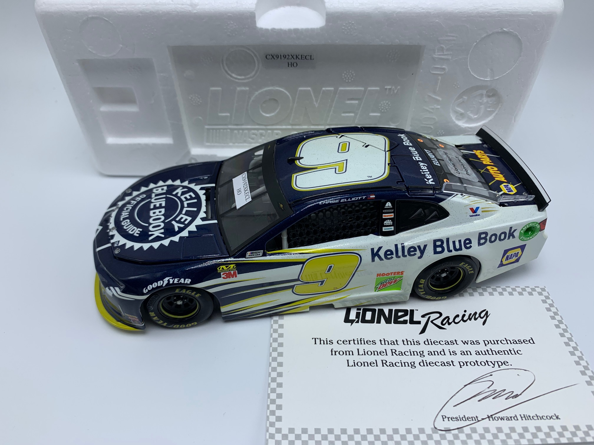 CHASE ELLIOTT 2019 KELLEY BLUE BOOK 1:24 ARC DIECAST - PROTO #5