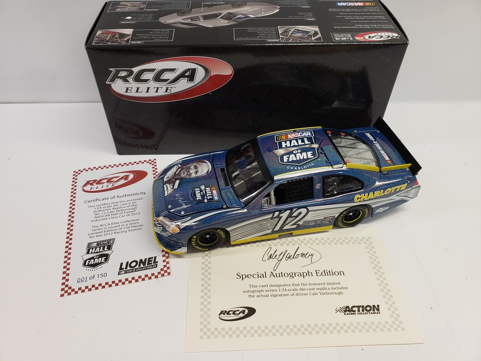 2012 Cale Yarborough NASCAR Hall of Fame Flashcoat Autographed ELITE