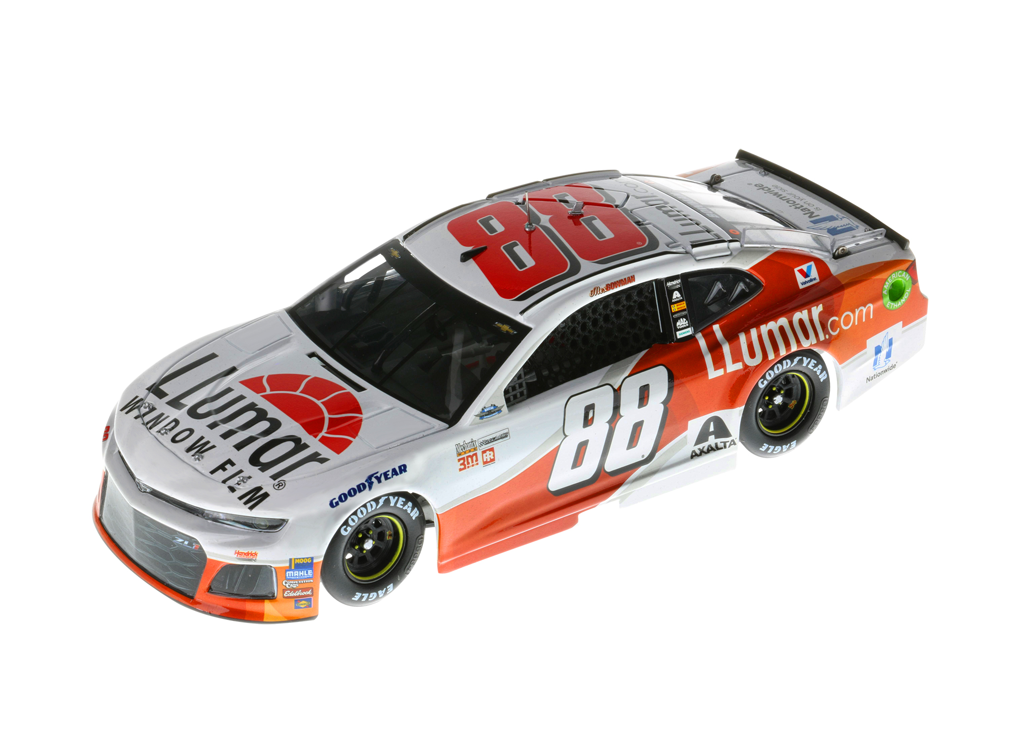 ALEX BOWMAN 2018 LLUMAR WINDOW FILM 1:24 ELITE DIECAST