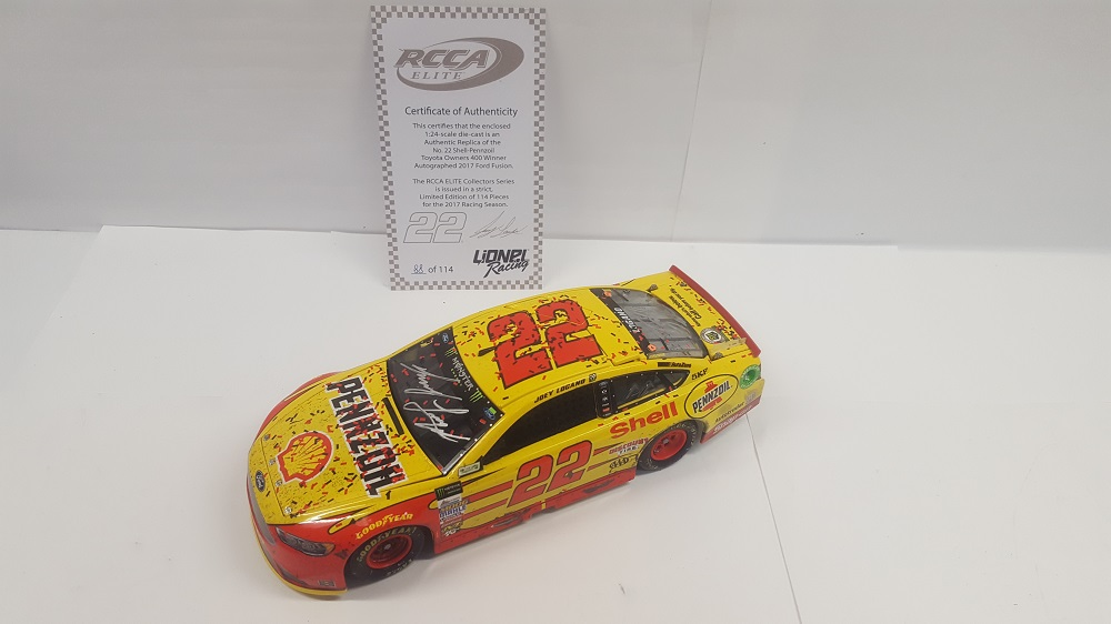 JOEY LOGANO 2017 SHELL-PENNZOIL RICHMOND WIN 1:24 ELITE AUTOGRAPHED