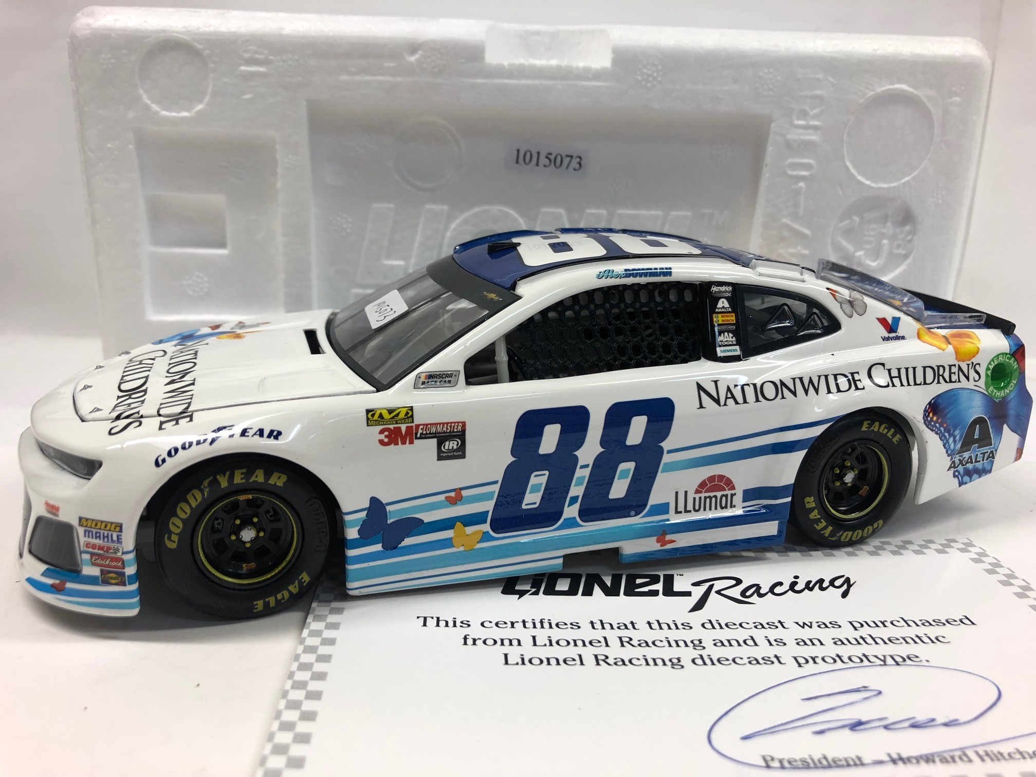 ALEX BOWMAN 2018 NATIONWIDE CHILDREN'S HOSPITAL 1:24 ARC PROTOTYPE DIECAST