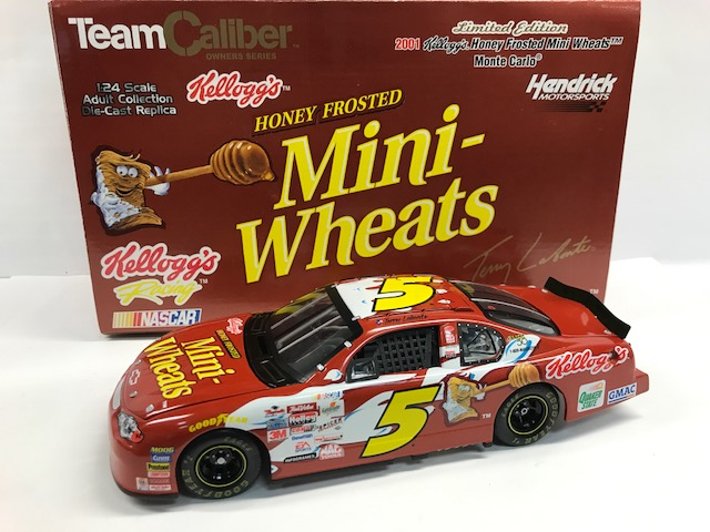 TERRY LABONTE 2001 KELLOGGS HONEY FROSTED MINI WHEATS 1:24 TEAM CALIBER OWNERS SERIES DIECAST  - SAM