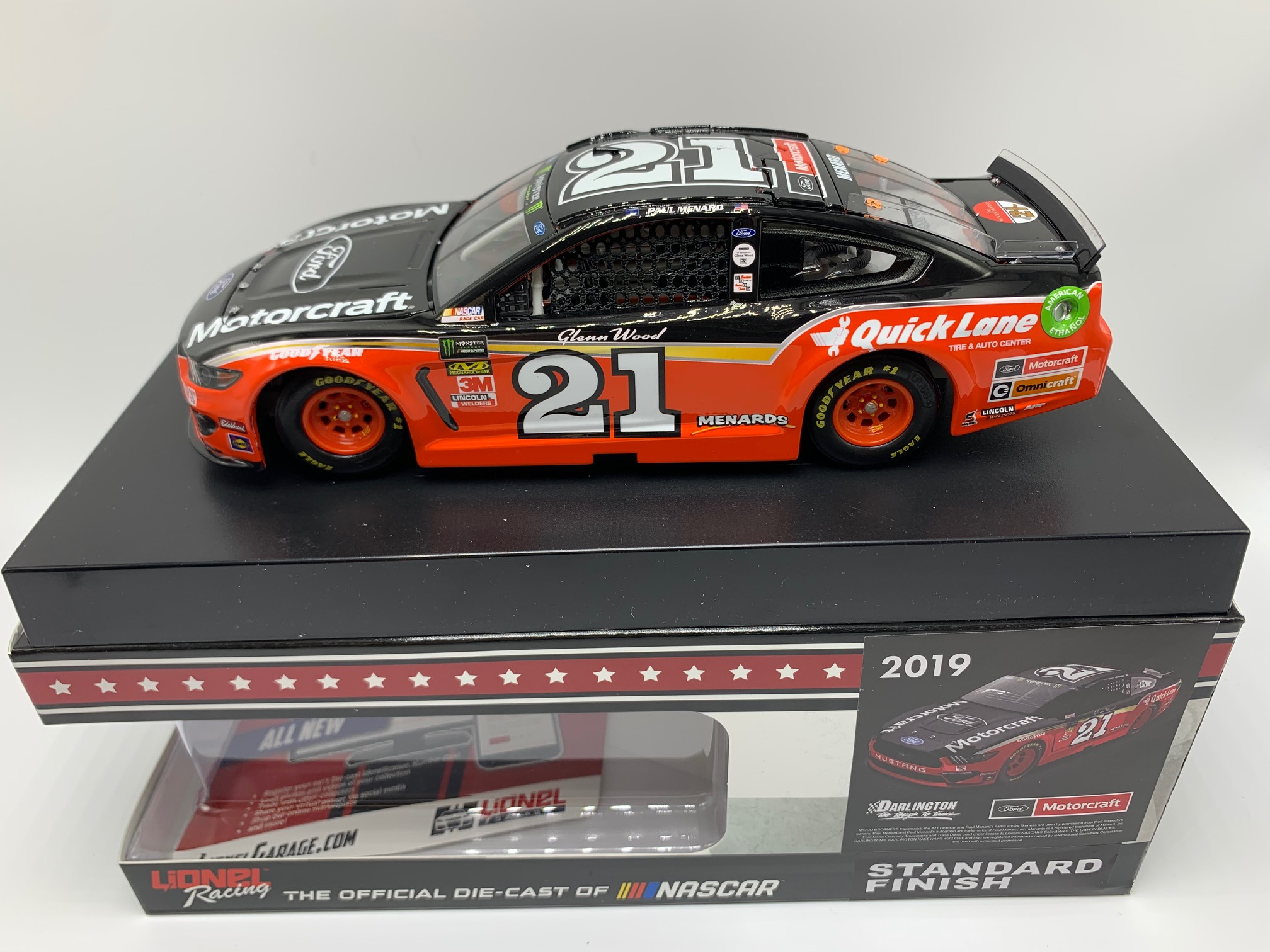PAUL MENARD 2019 MOTORCRAFT DARLINGTON THROWBACK 1:24 ARC DIECAST - DIN #1