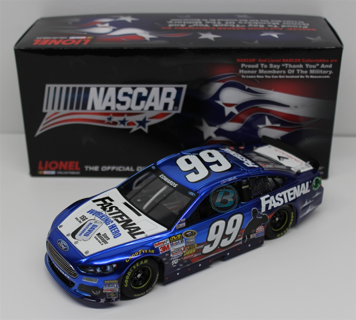 2013 Carl Edwards Fastenal Heroes Hired Here Liquid Color ARC