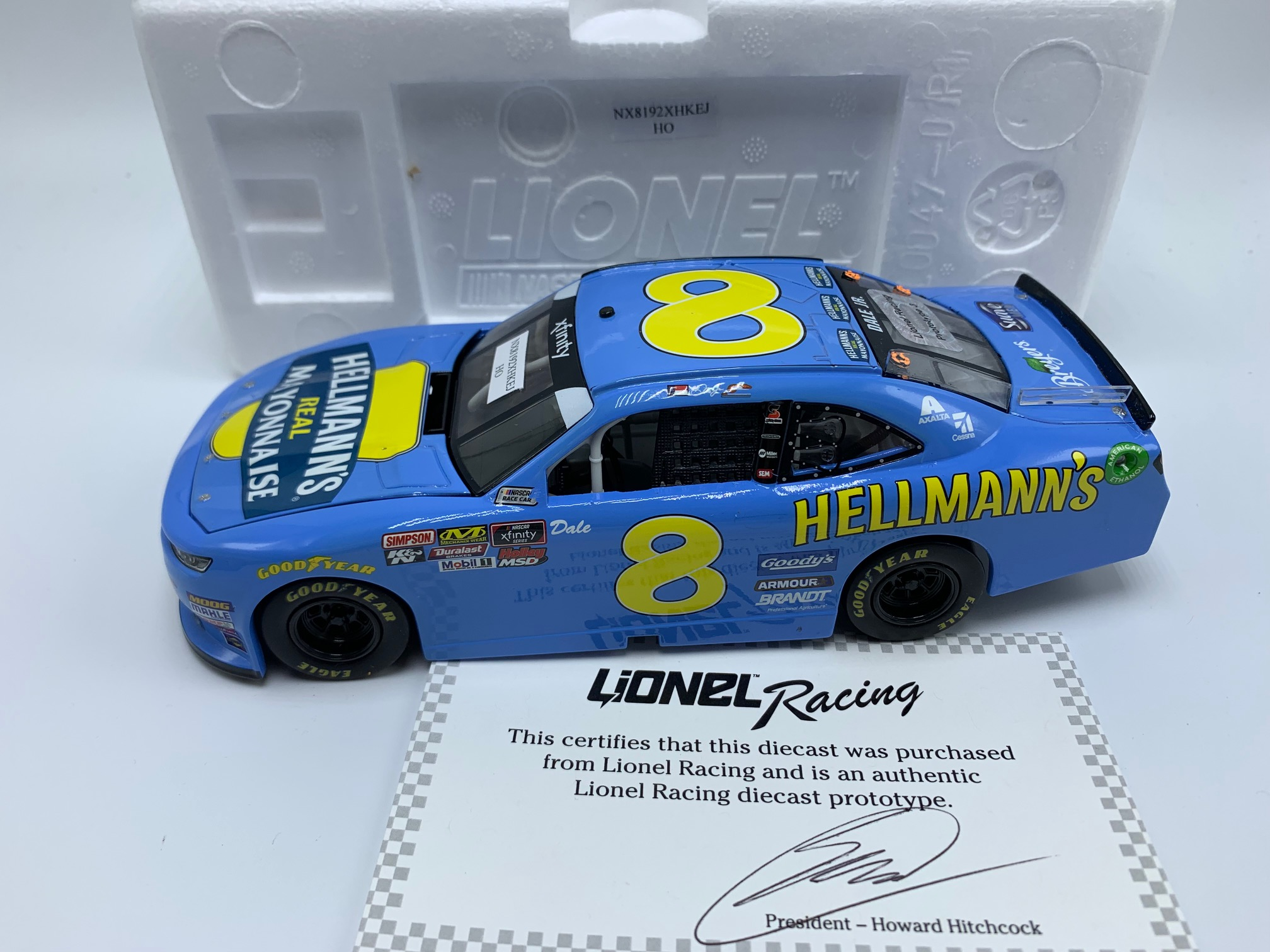 DALE EARNHARDT JR 2019 HELLMANN'S DARLINGTON THROWBACK 1:24 PROTOTYPE # 3
