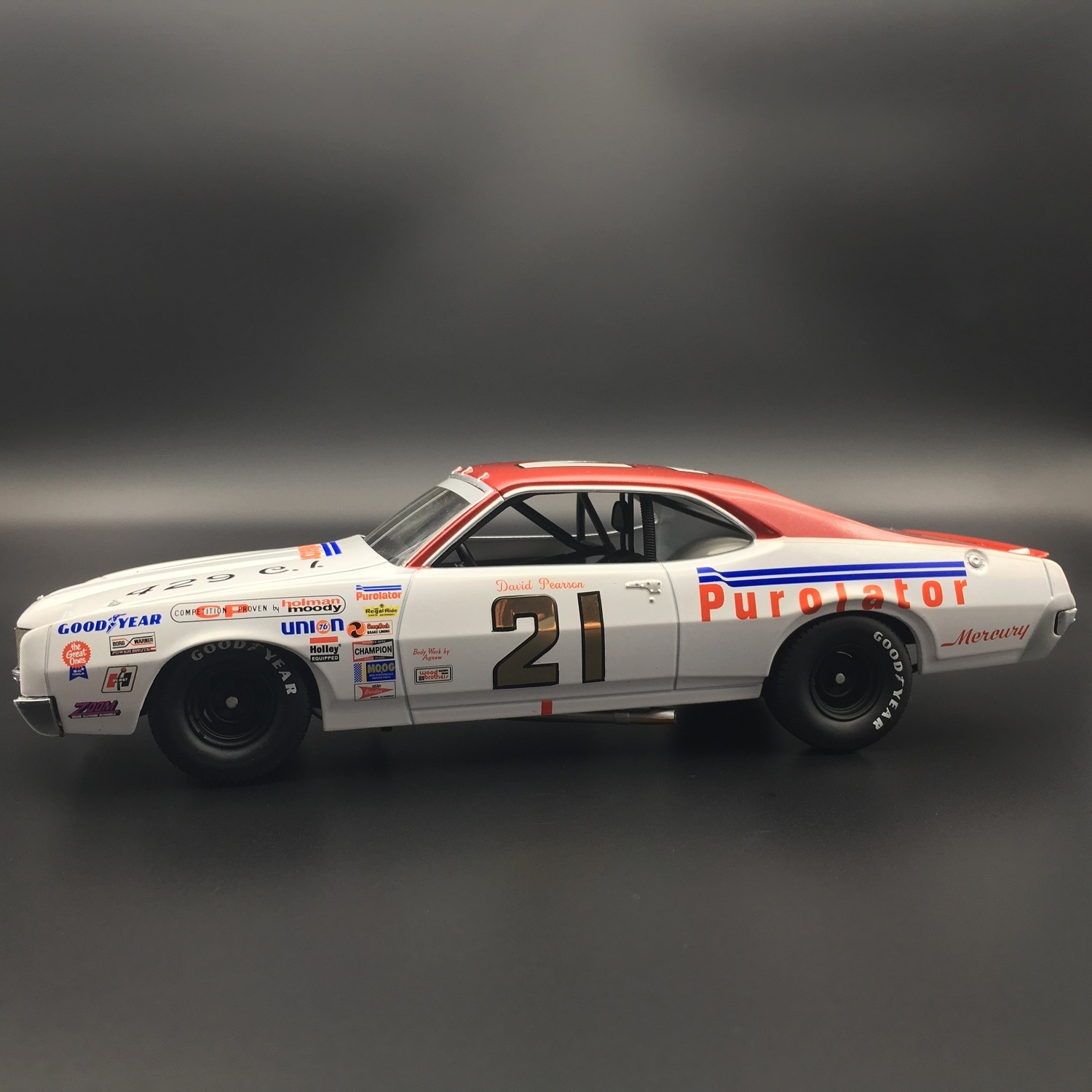 David Pearson 1971 Purolator Mercury Cyclone 1:24 University Of Racing Diecast