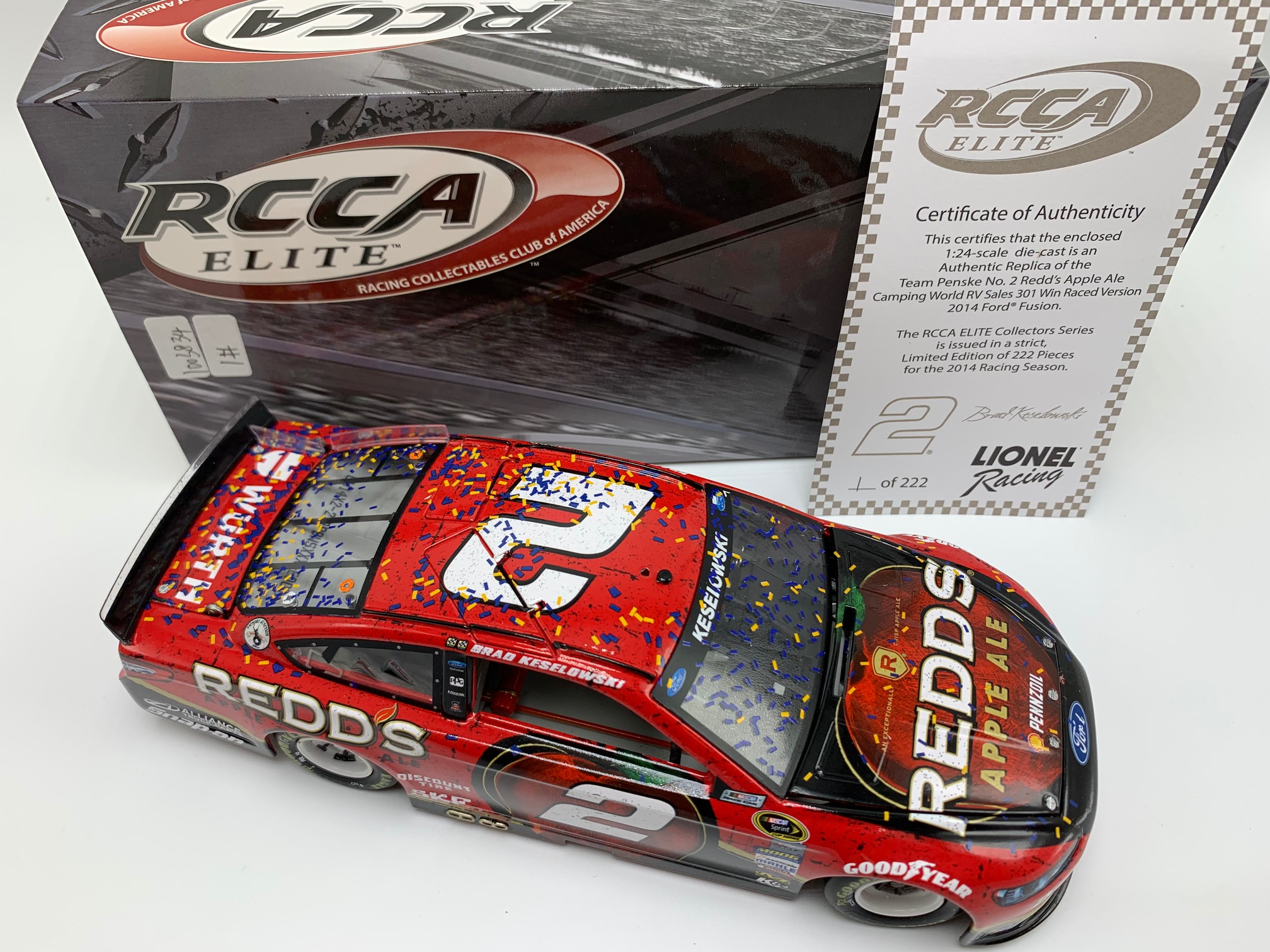2014 Brad Keselowski ELITE Redd's Apple Ale Loudon Raced Win
