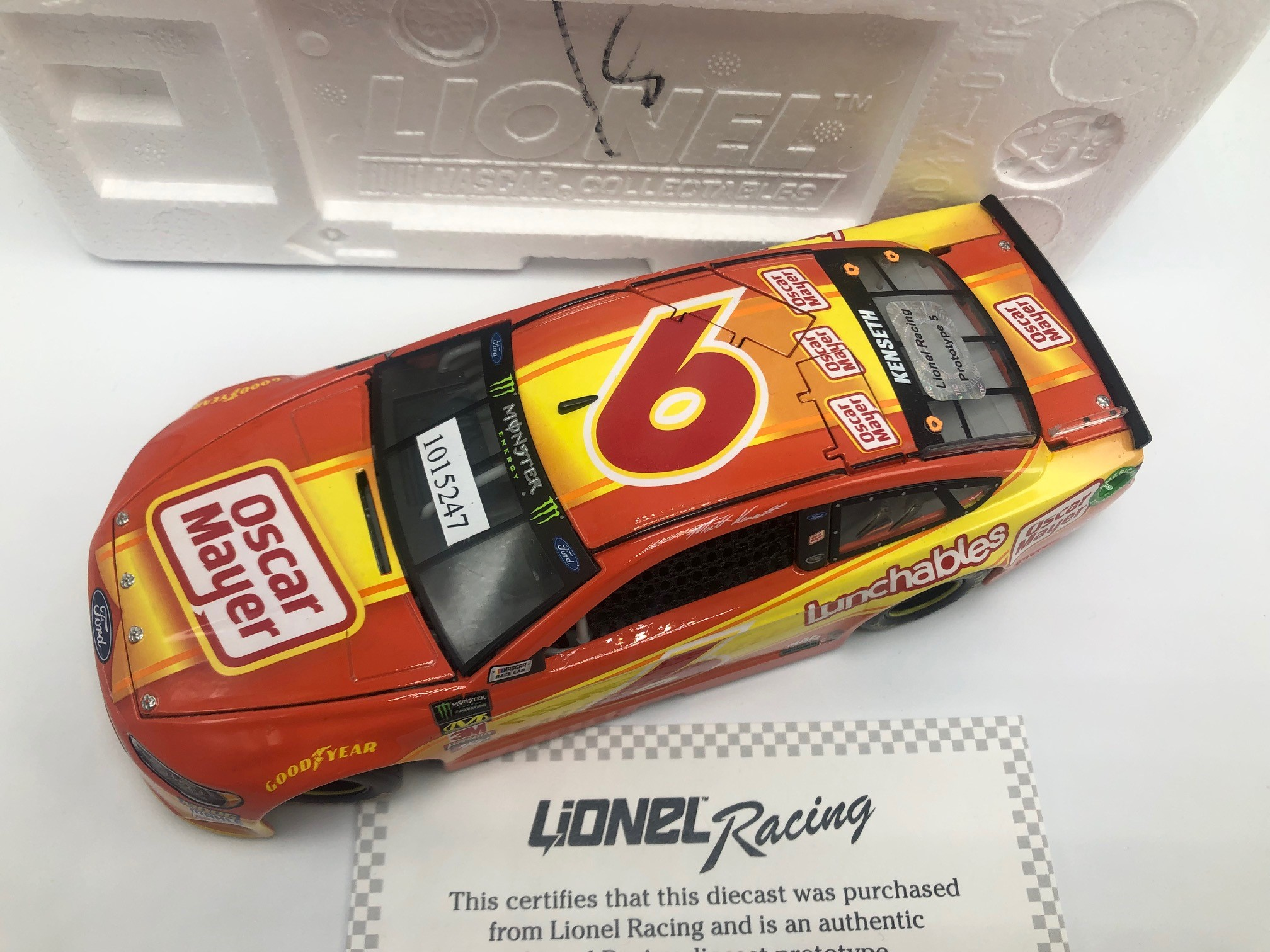 MATT KENSETH 2018 OSCAR MAYER 1:24 PROTOTYPE DIECAST
