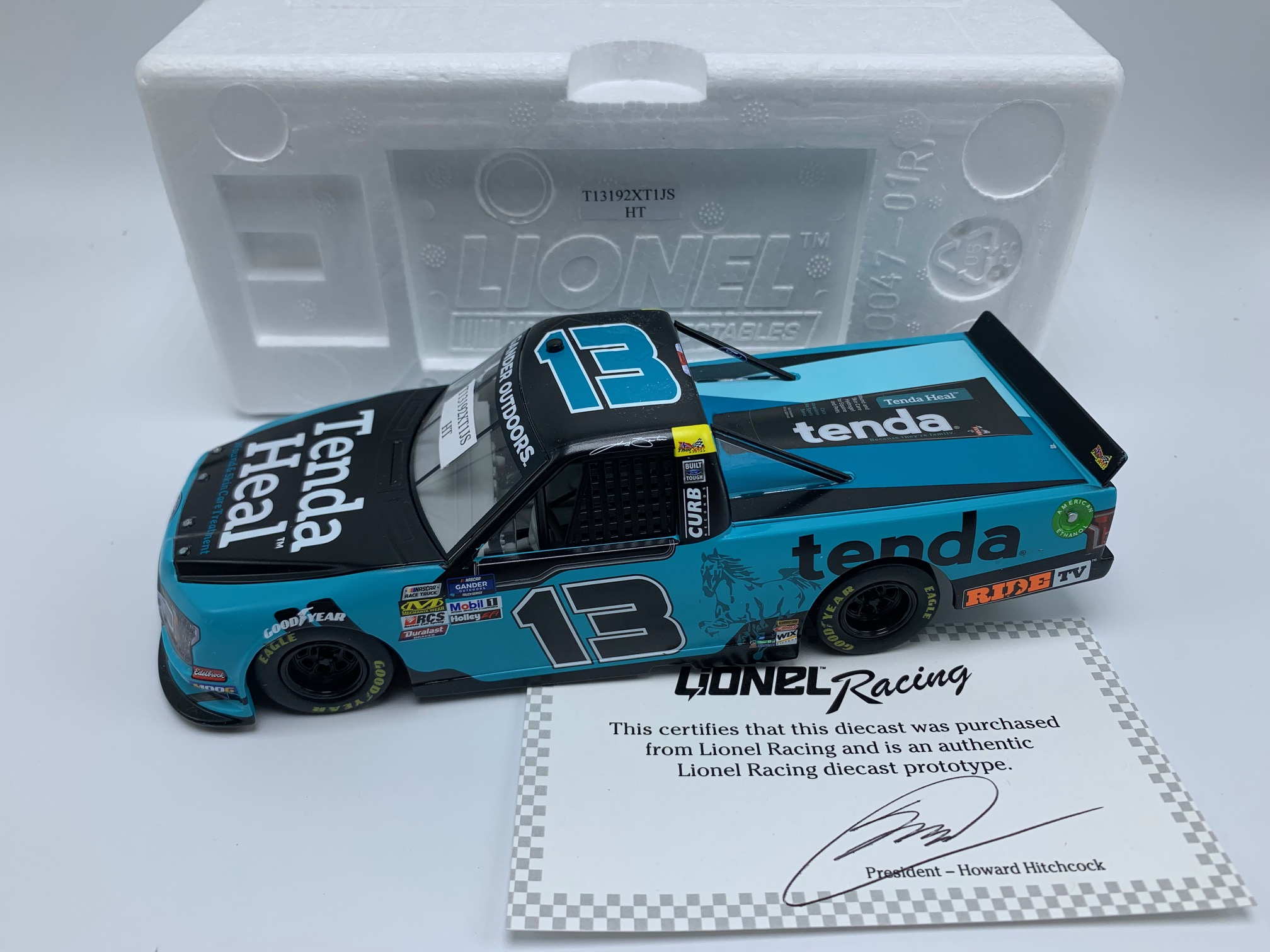 JOHNNY SAUTER 2019 TENDA HEAL 1:24 ARC DIECAST - PROTOTYPE #4