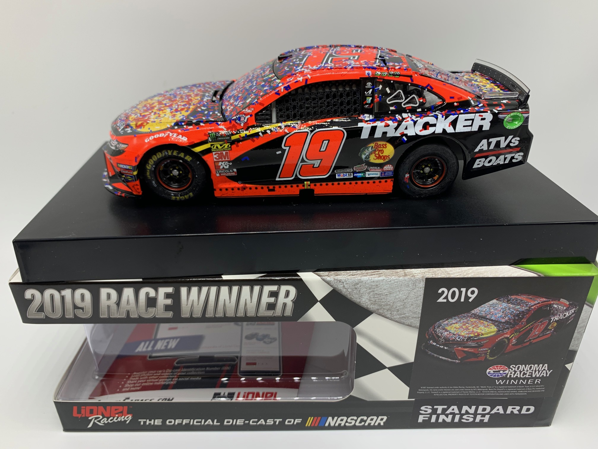 MARTIN TRUEX JR 2019 BASS PRO SHOPS SONOMA RACED WIN 1:24 ARC DIECAST - DIN #1