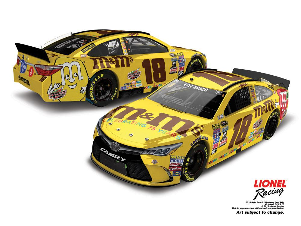 2016 Kyle Busch ELITE M&M's Brand 75th Can-Am Duel Win