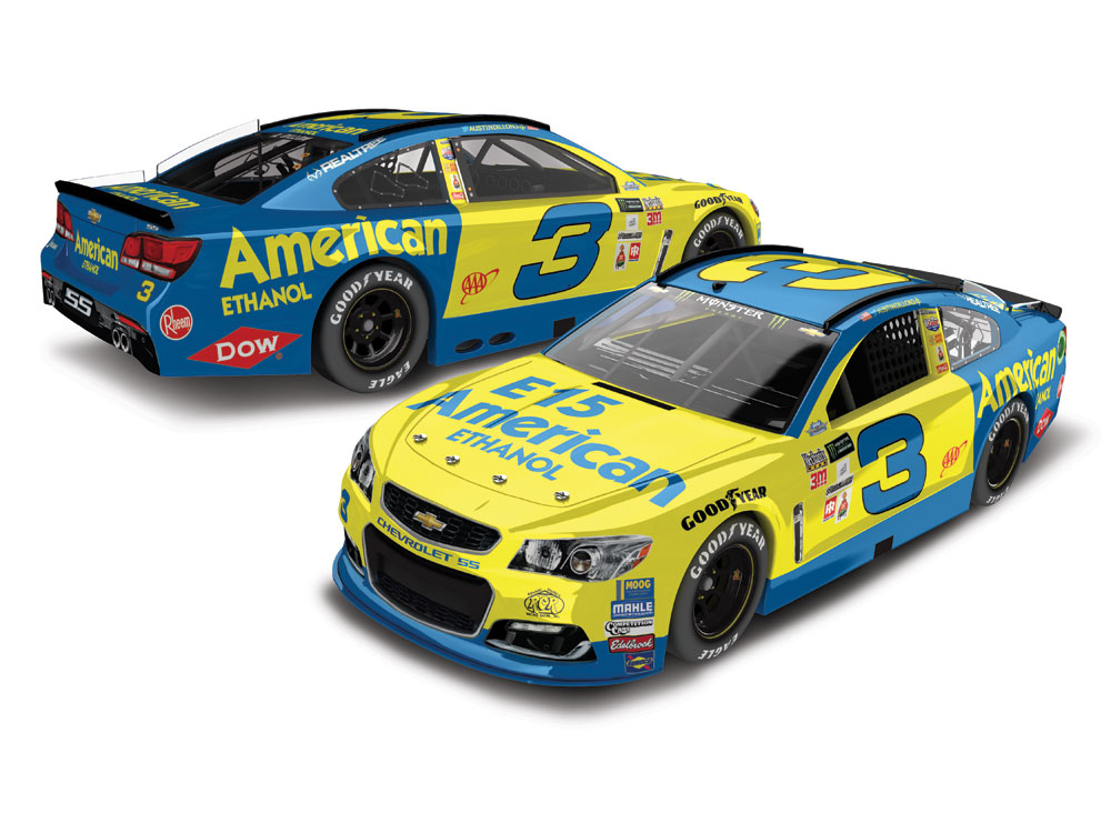 AUSTIN DILLON 2017 AMERICAN ETHANOL DARLINGTON THROWBACK 1:24 ELITE - AUTOGRAPHED BY RICHARD CHILDRE