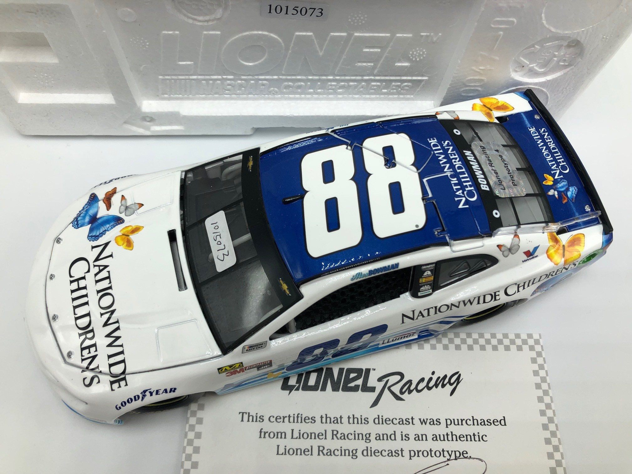 ALEX BOWMAN 2018 NATIONWIDE CHILDREN'S HOSPITAL 1:24 PROTOTYPE DIECAST