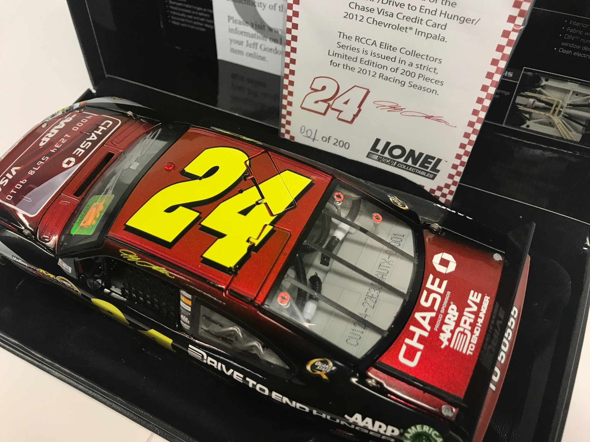 Buy JEFF GORDON 2012 AARP/CHASE CREDIT CARD 1:24 ...