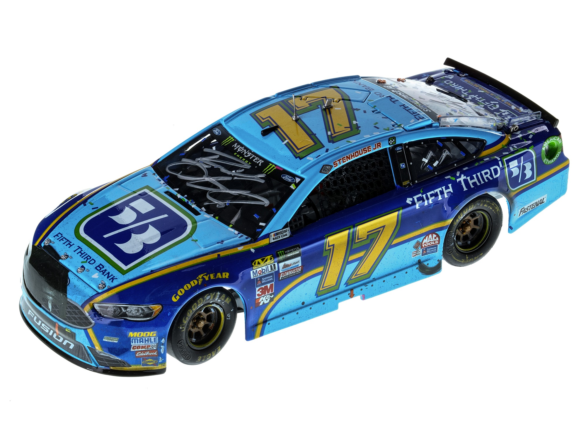RICKY STENHOUSE JR 2017 FIFTH THIRD BANK TALLADEGA FIRST WIN 1:24 ELITE - DUAL AUTOGRAPHED!
