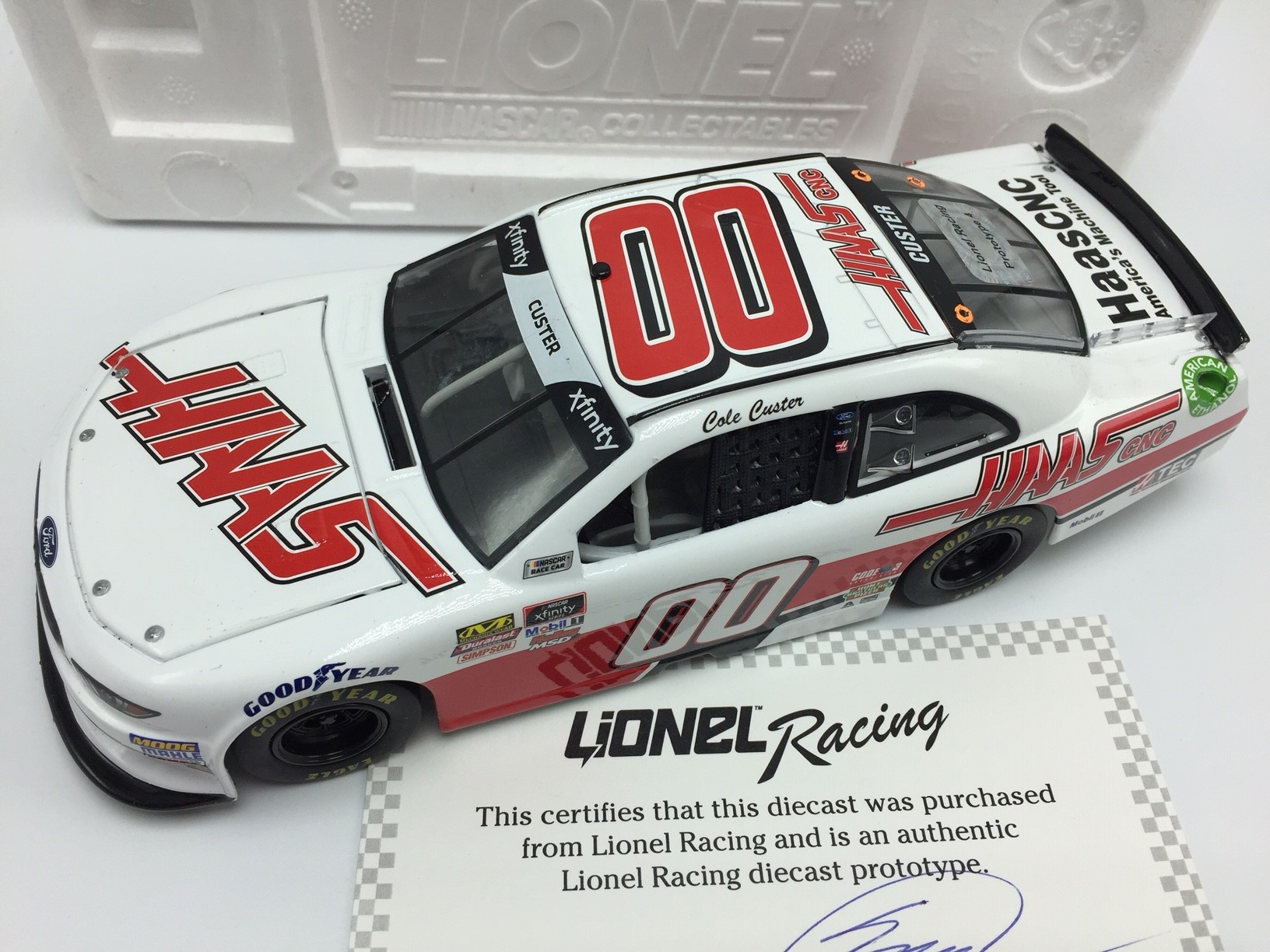 C CUSTER 1/24 HO HAAS AUTOMATION 18 MUSTANG