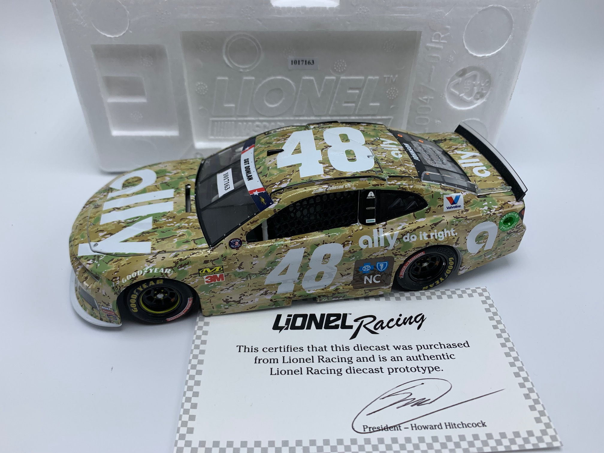 JIMMIE JOHNSON 2019 ALLY PATRIOTIC 1:24 ARC DIECAST - PROTOTYPE # 4
