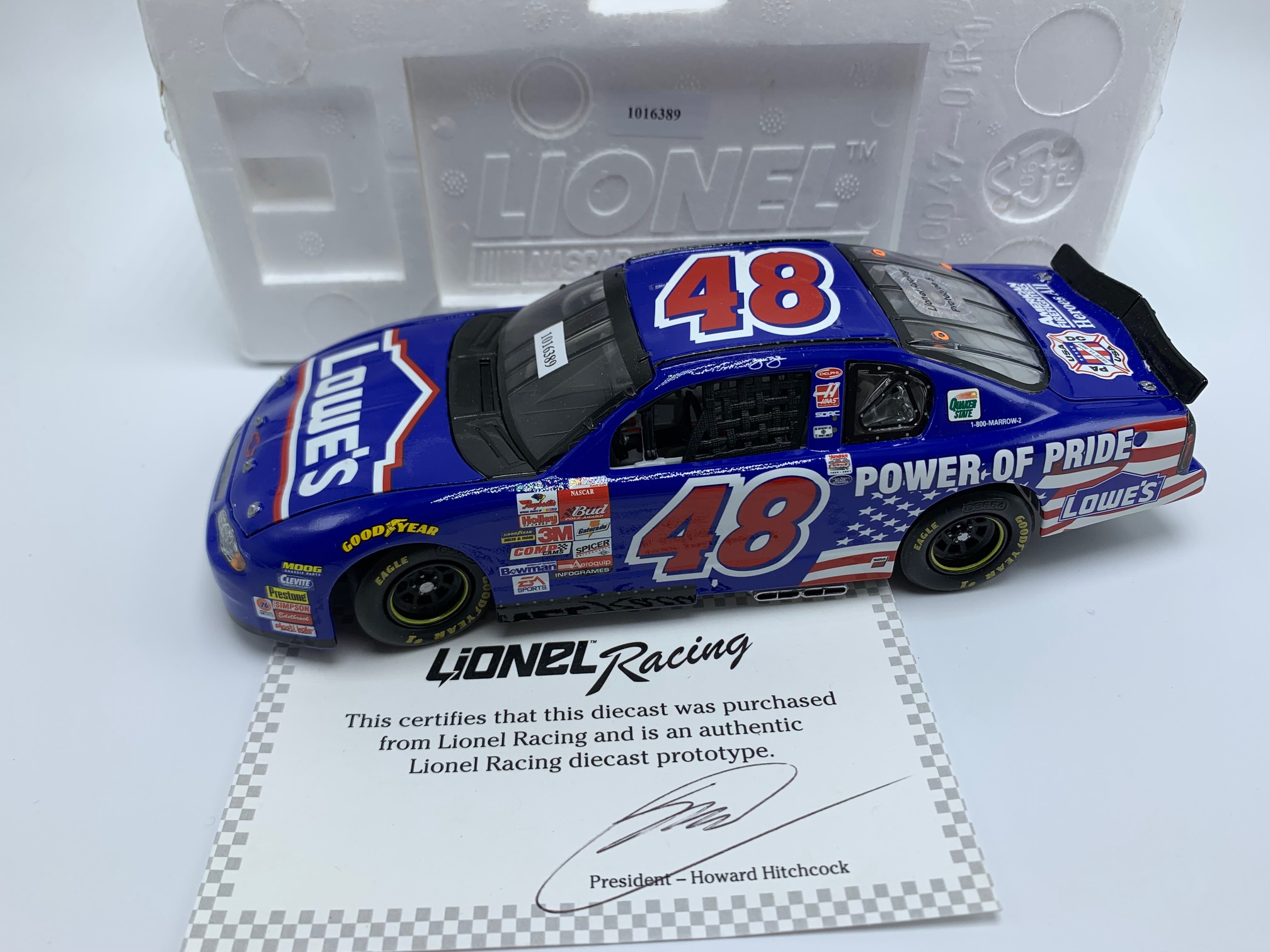 JIMMIE JOHNSON LOWES POWER OF PRIDE FIRST START 1:24 ARC PROTOTYPE