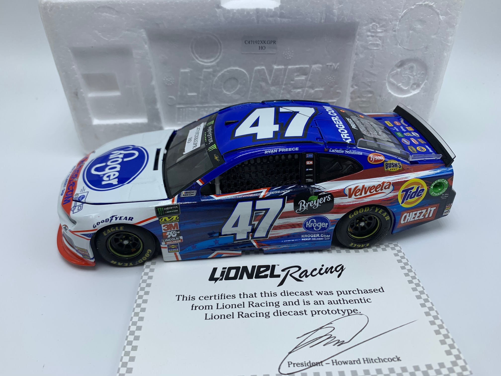 RYAN PREECE 2019 KROGER 1:24 ARC PROTOTPYE