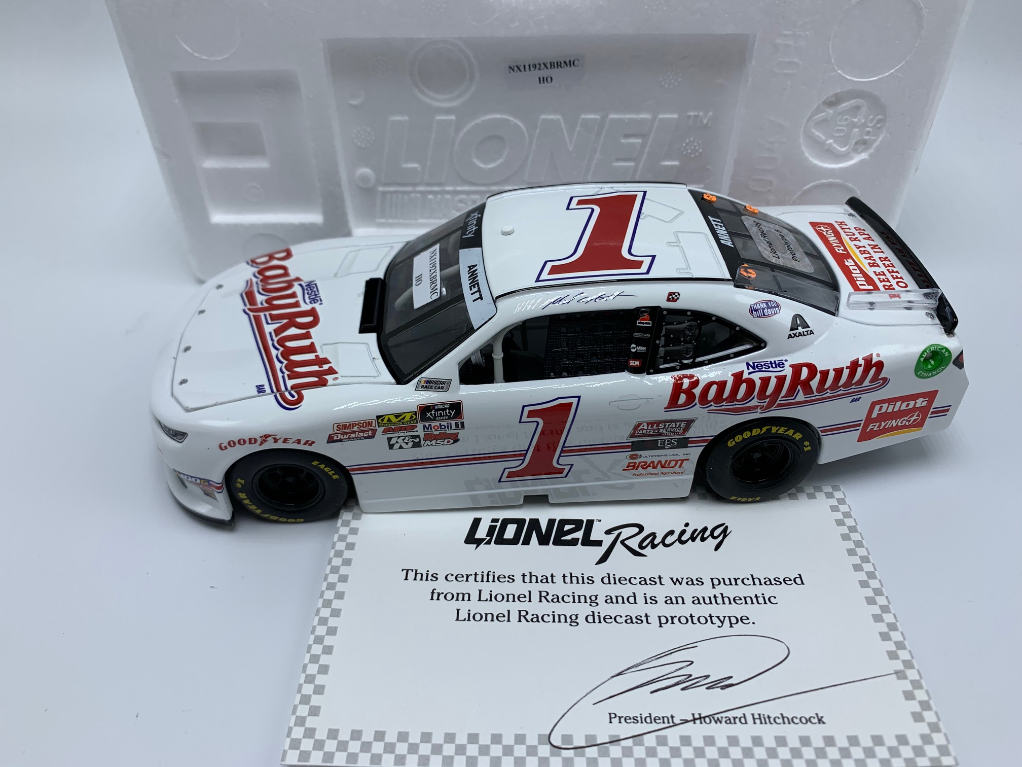 MICHAEL ANNETT 2019 BABY RUTH DARLINGTON 1:24 ARC PROTO # 5