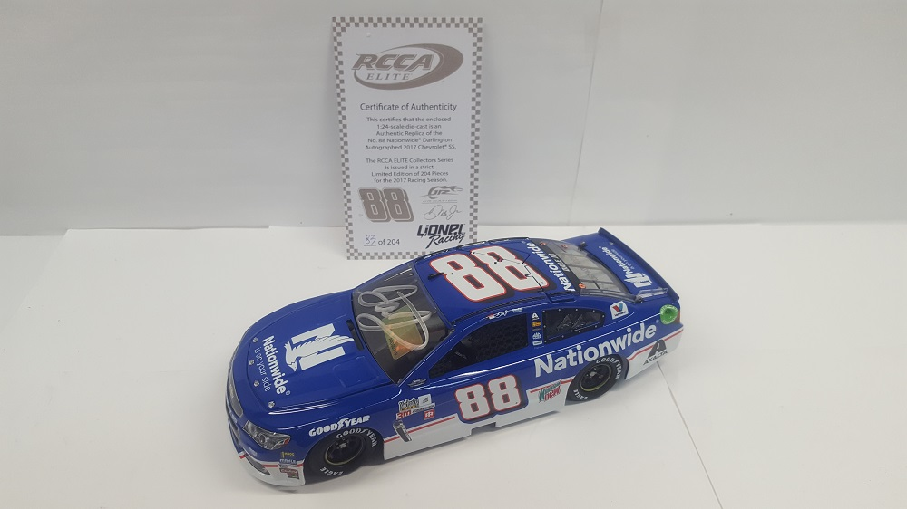 DALE EARNHARDT JR. 2017 NATIONWIDE DARLINGTON 1:24 ELITE AUTOGRAPHED