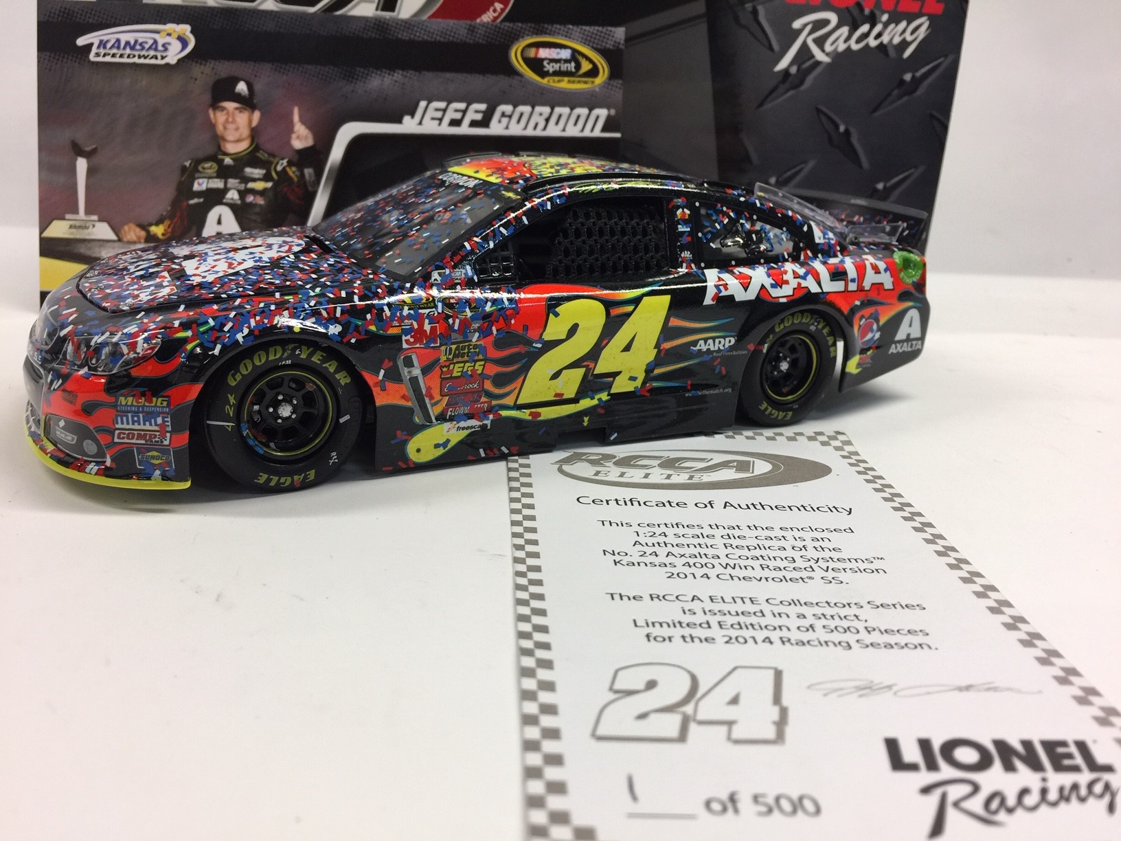 JEFF GORDON 2014 AXALTA KANSAS RACED WIN DIECAST