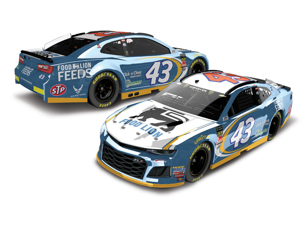 BUBBA WALLACE 2018 FOOD LION 1:24 ELITE COLOR CHROME DIECAST