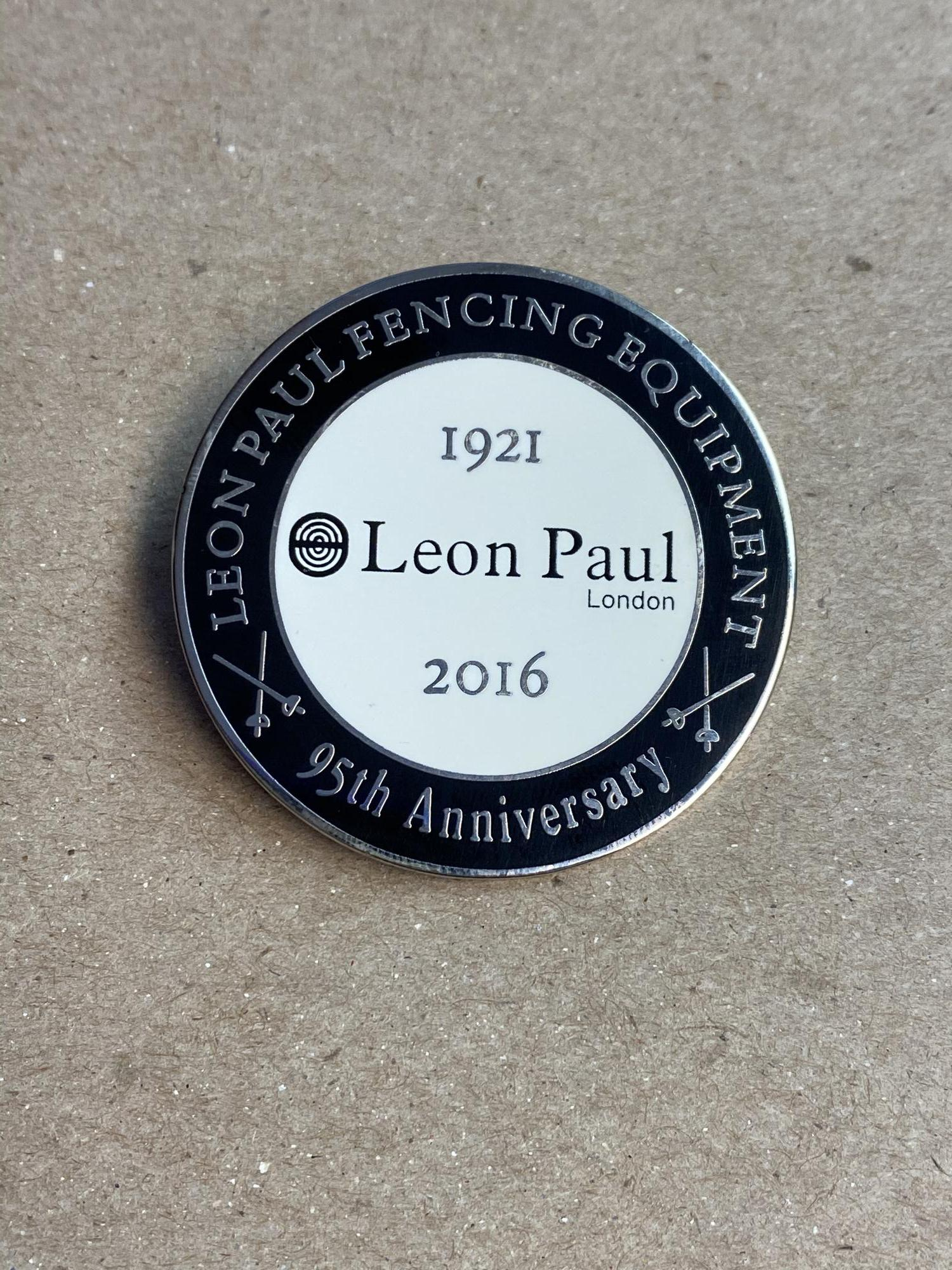 Leon Paul Fencing Equipment 95th Anniversary Pin