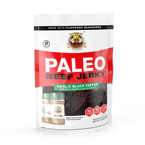Flavor God Paleo Jerky - Garlic Black Pepper