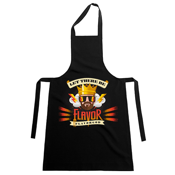FlavorGod Chef Apron - Black