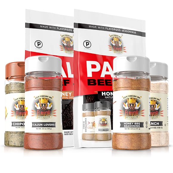 Summer 6 Pack - Honey BBQ, Cajun Lovers, Chipotle, Ranch, Paleo Grass Fed Beef Jerky Honey Teriyaki and Honey Chipotle