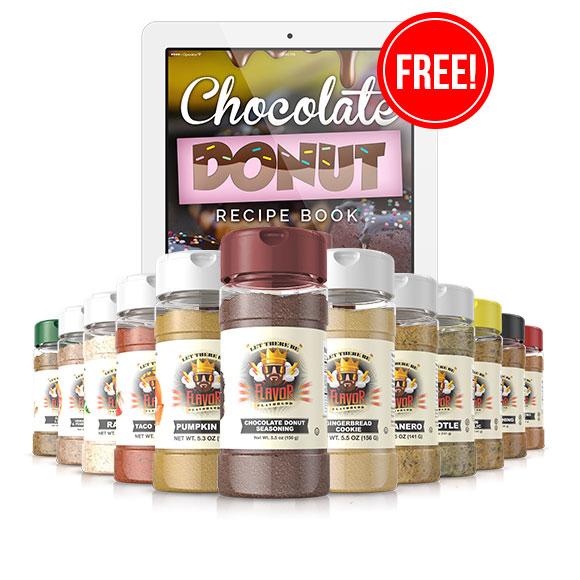 12 Bottle Combo Featuring Chocolate Donut & Recipe EBooks