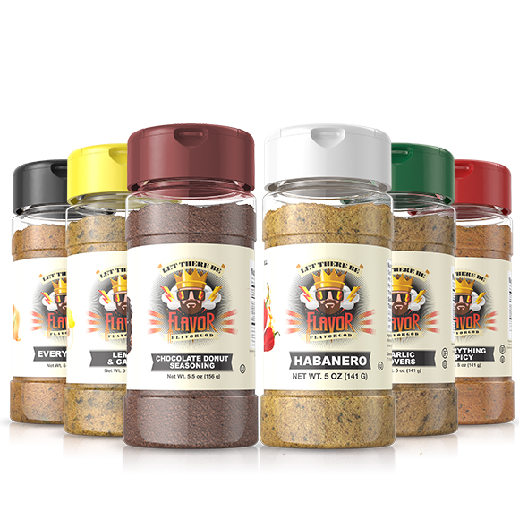 6 Pack - Classic Combo Pack + Habanero + CHOCOLATE DONUT SEASONING