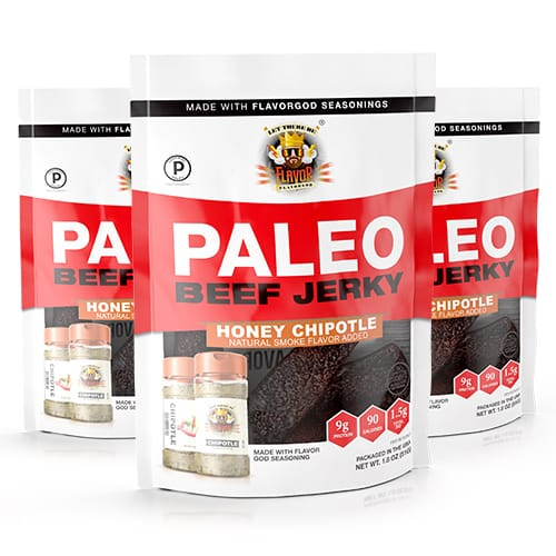Flavor God Paleo Jerky - Honey Chipotle - 3 Pack