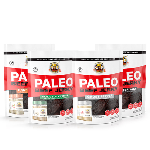 Flavor God Paleo Jerky - Classic Combo Pack - Featuring Ghost Pepper Dynamite