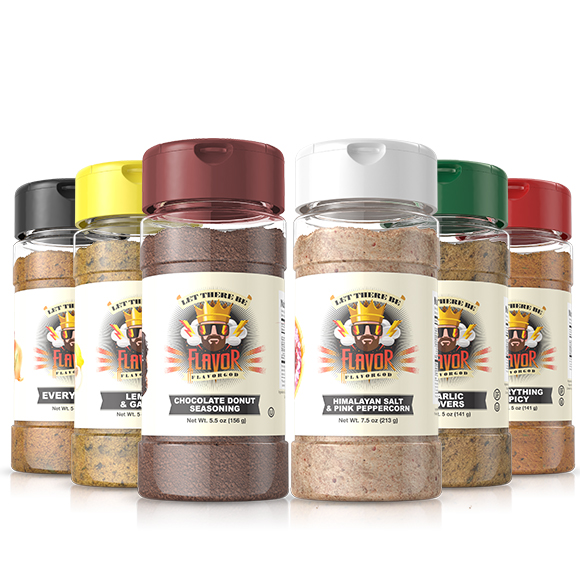 6 Pack - Classic Combo Pack + Himalayan Salt Pepper + CHOCOLATE DONUT SEASONING