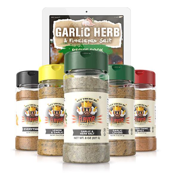 5 Bottle - Classic Combo Pack + Garlic Herb & Himalayan Salt Seasoning