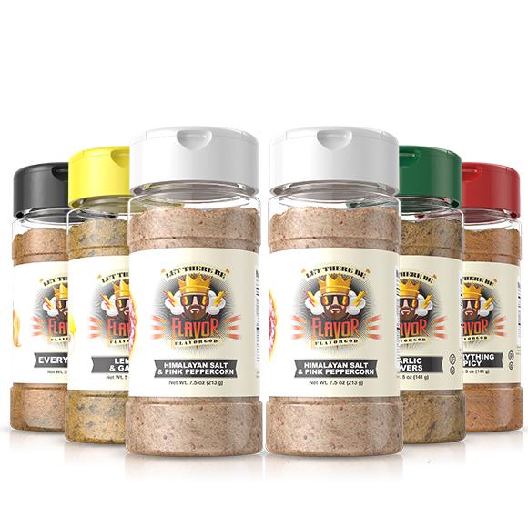6 Pack - Classic Combo Pack + Himalayan Salt Pepper + Himalayan Salt Pepper