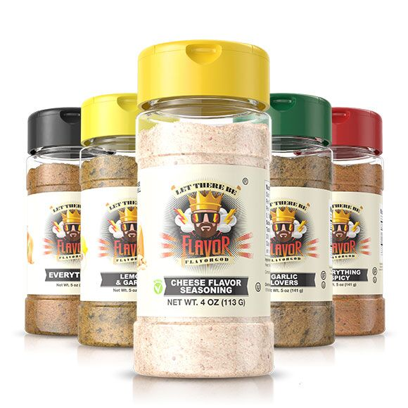 5 Bottle - Classic Combo Pack + Cheese Seasoning